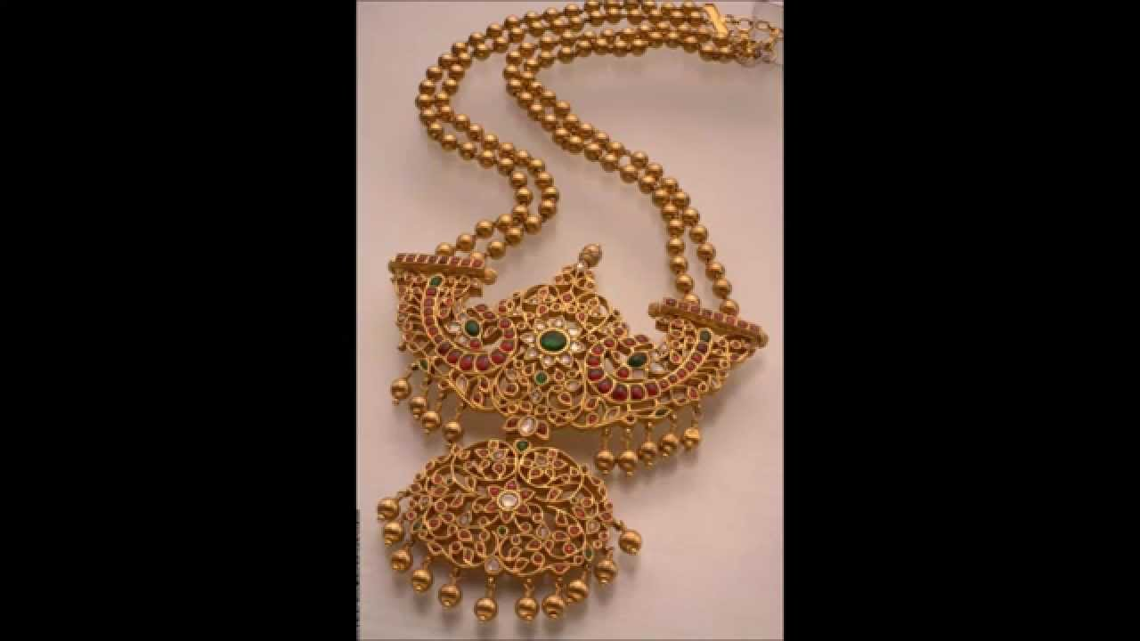 Gold long chains designs - YouTube