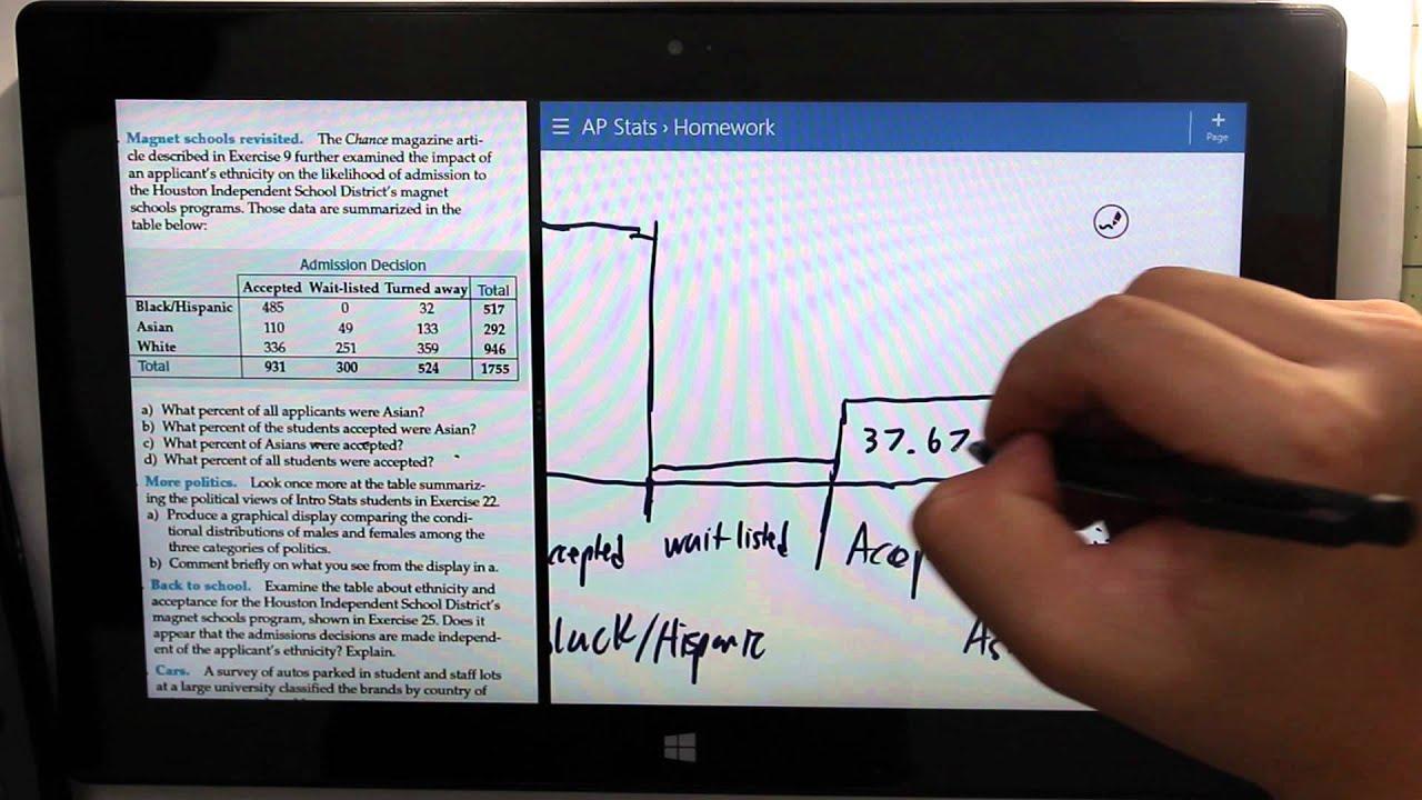 Surface Pro 2 - Doing AP Stats Homework 2 - YouTube