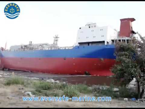Salvage stranded LPG vessel with airbags