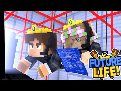 LITTLE KELLY & DONNY ARE CRIMINALS BREAKING THE LAW!!  Minecraft FUTURE LIFE!