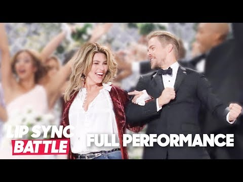 """Derek Hough Proposes 💍 To Shania Twain (""""From This Moment On"""")   Lip Sync Battle"""