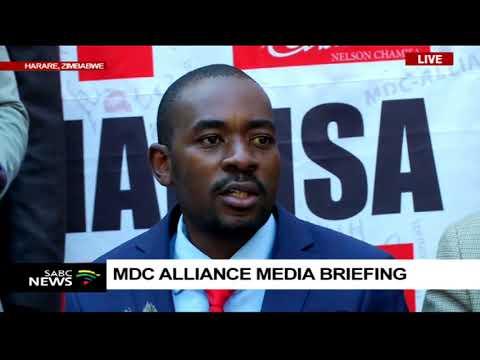 'Mnangagwa must reject Zim election results' - Chamisa