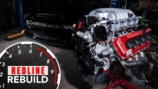 840-hp Dodge Demon Hemi V-8 engine build time-lapse | Redline Rebuilds - S3E1