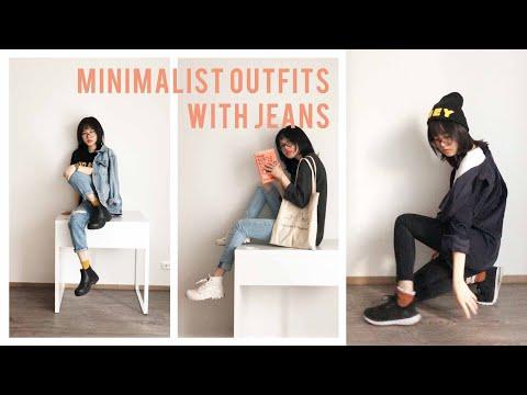 How I Style Jeans In Minimalist Style | Phối Đồ Đơn Giản Với Quần Jeans