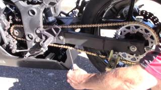 How To: Ninja 250 Chain Adjustment