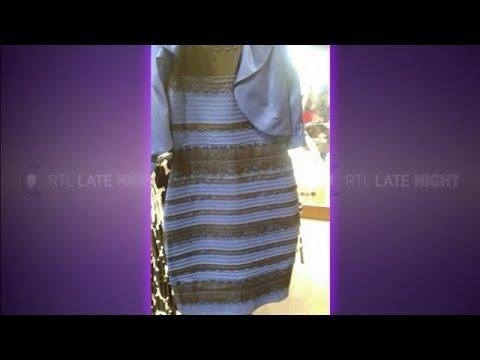 Goud witte en blauw zwarte jurk
