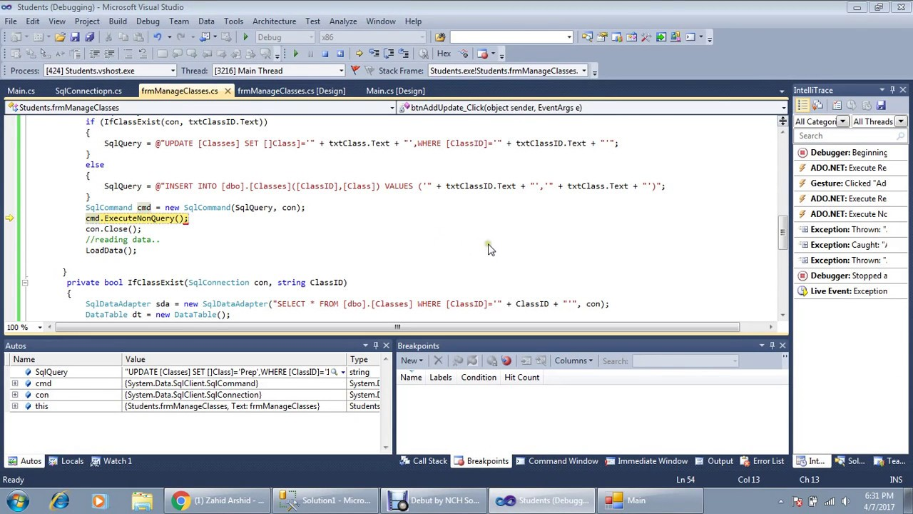 How To Create Student Management System Part 3 C Sql Server Youtube