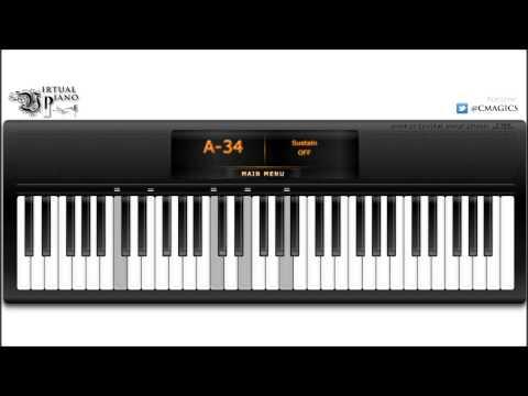 Virtual Piano - Starry Starry Night