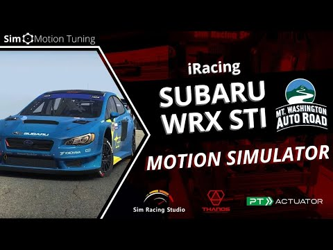 iRacing: Subaru WRX STI / Mount Washington Hillclimb/ Sim Racing Studio / PT Actuator 6DOF Platform