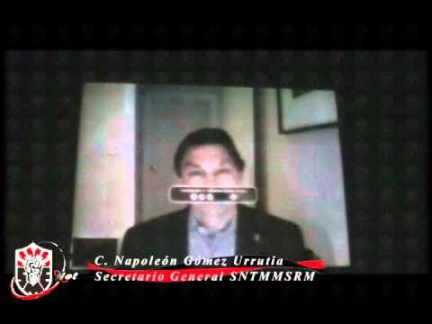 Encuentro Internacional de Solidaridad21 de Febrero de 2012Mensaje del C  Napoleón Gómez UrrutiaSecretario General SNTMMSRM