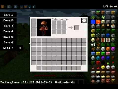 Minecraft Mod de modificador de inventario - YouTube