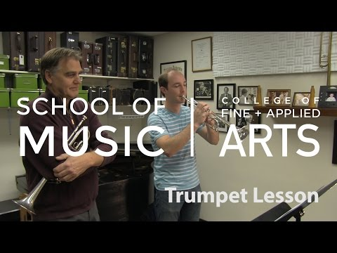 Illinois Bands - Brass - Professor Charles Daval - Trumpet Lesson
