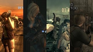 Resident Evil 4/5/6/Revelations gameplay montage at 60fps
