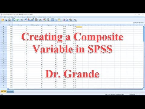 Creating a Composite Variable (Weighted and Unweighted) using SPSS