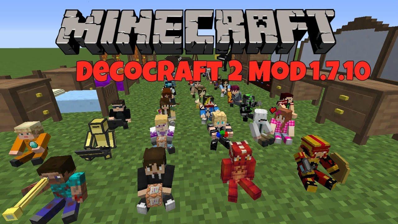 Decocraft mod 1. 11. 2/1. 10. 2/1. 8. 9/1. 7. 10/1. 7. 2/1. 6. 4 | minecraft.