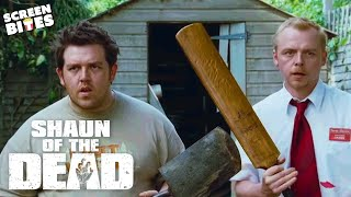 Shaun Of The Dead - Remove the head, or destroy the brain. Simon Pegg, Nick Frost, Edgar Wright