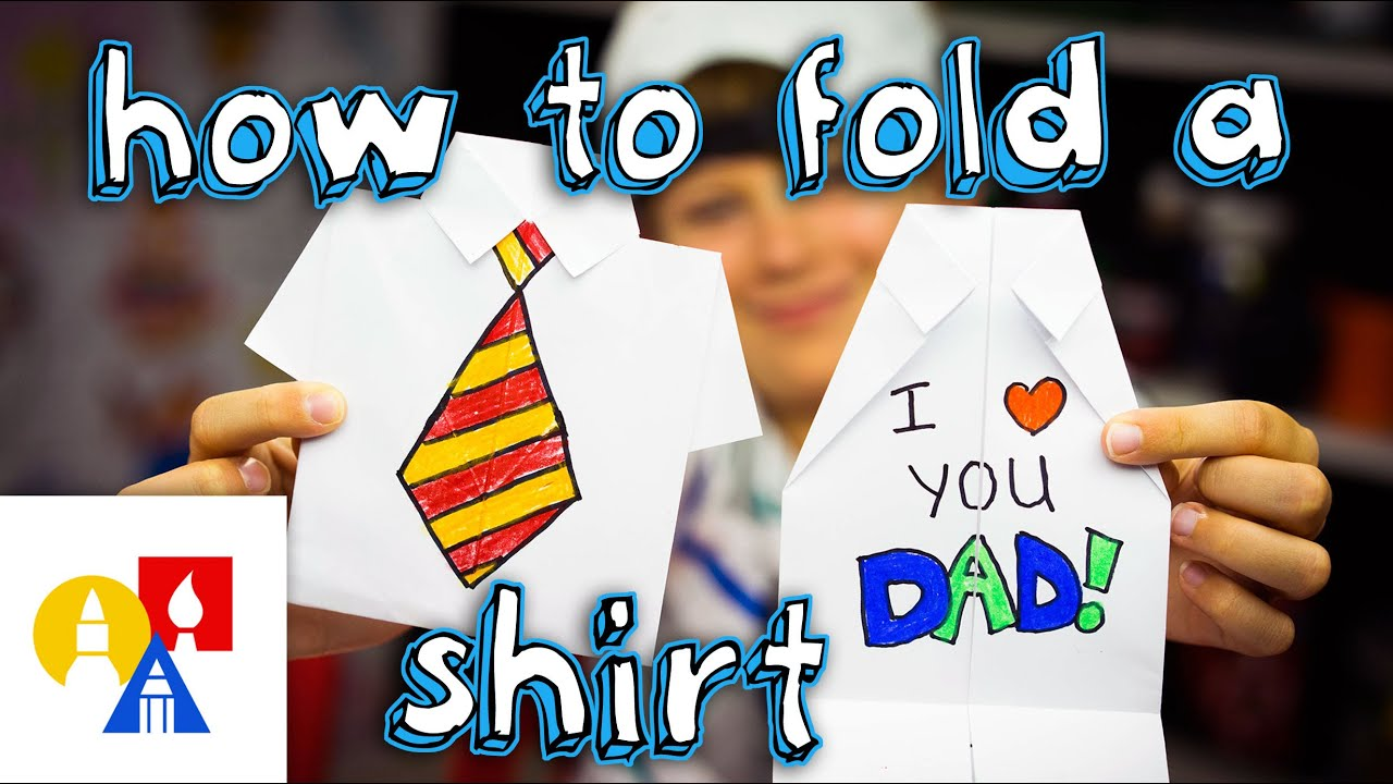 how to fold an origami shirt father u0027s day card youtube