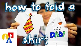 How To Fold An Origami Shirt (Father's Day Card)