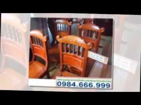 Bàn ghế ăn gỗ gụ, hương, mun sọc- Đồ gỗ Đức Hiền