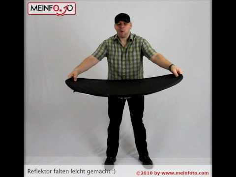 faltreflektor falten leicht gemacht youtube. Black Bedroom Furniture Sets. Home Design Ideas