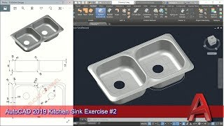 Autocad 2019 3d Modeling Kitchen Sink Tutorial Graphic Design Software Youtube