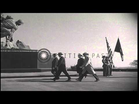 President Eisenhower and Vice President Nixon at the dedication ceremony of the I...HD Stock Footage