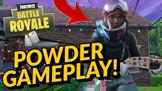 POWDER Skin Gameplay In Fortnite Battle Royale