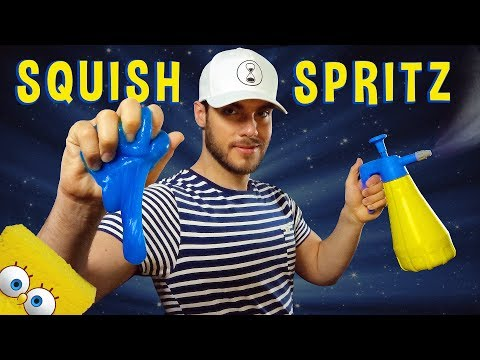 ASMR SQUISH & SPRITZ | Spray. Slime. Foam.