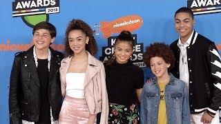 "Cast Of ""star Falls"" 2018 Kids' Choice Awards Orange Carpet"