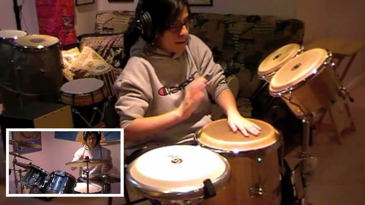 Chris Brown  Turn Up The Music Drum Set Congas  Bongos