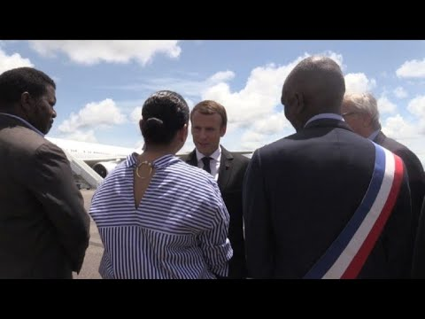 Macron visits French territory of Guiana