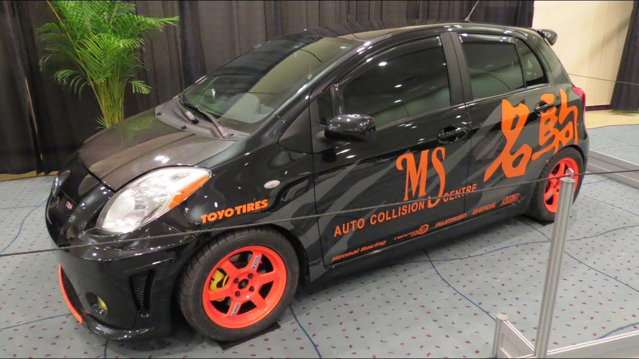 Toyota Yaris Ia Mods >> 2008 Toyota Yaris RS Custom At The 2013 Canadian Int Auto Show Toronto - YouTube