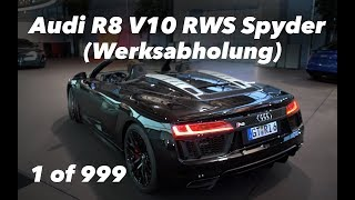 Audi R8 V10 RWS Spyder Neuwagenabholung in Neckarsulm