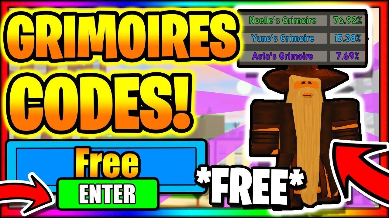 All New Secret Op Working Codes Grimoires Update Roblox