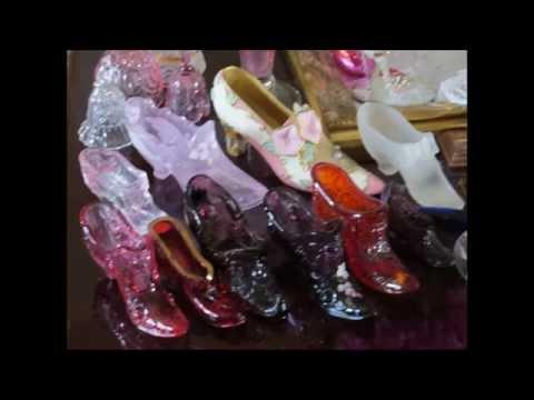 ╭დ╯💝My beautiful antique ceramic and glass shoe collection💝╭დ╯
