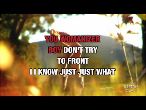 Womanizer in the style of Britney Spears karaoke  with lyrics no lead vocal