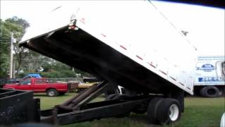 1999 International 4700 dump bed chipper truck for sale | sold at auction October 15, 2015