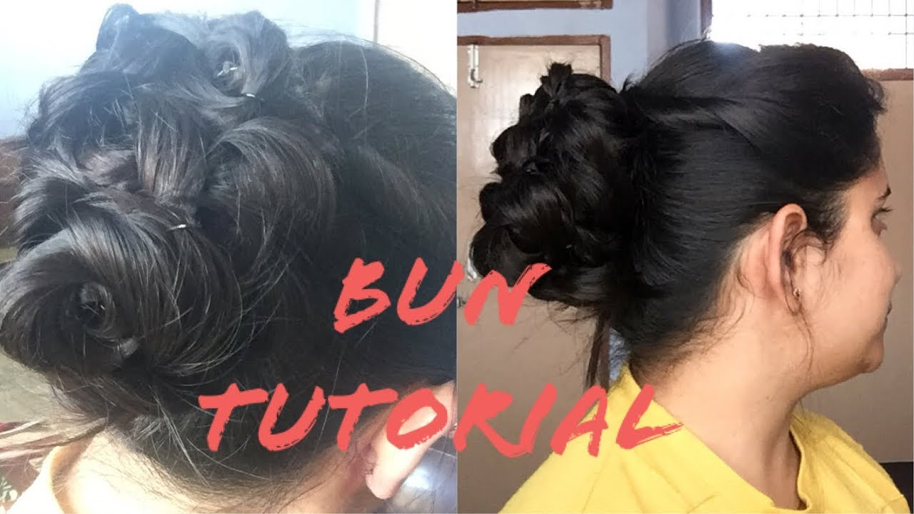 Bun Juda Hairstyle For Lehengasaree Indian Outfit Hairstyle For