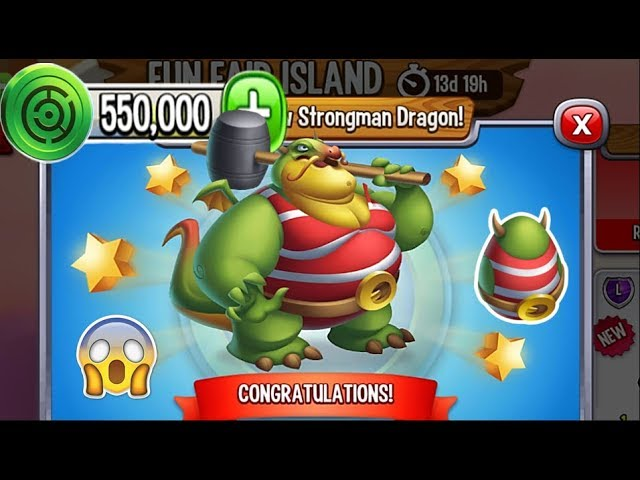 Dragon City - Strongman Dragon [Fun Fair Island | Completed 2018]