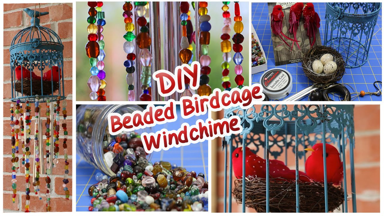 Diy Beaded Birdcage Wind Chime Youtube