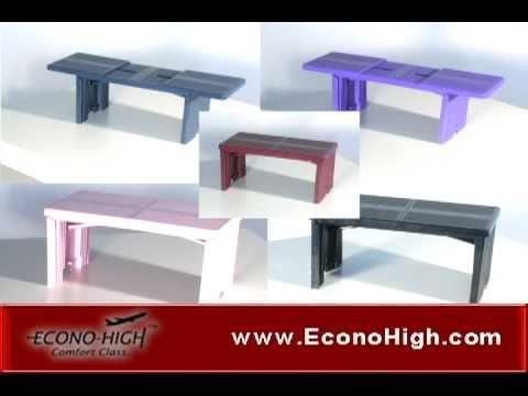 Econohigh Airplane Footrest Portable Foldable Footrestavi