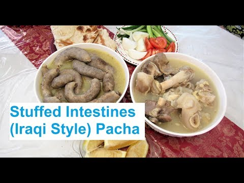 How to Clean and Stuff Intestines with Meat and Rice (Iraqi Style) Pacha/ Bimbar / #Recipe350CFF