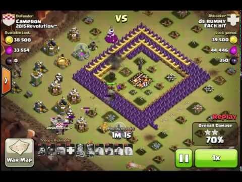 Jumping 4 walls in Clash of Clans