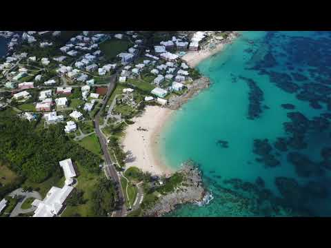 The beach at John Smiths Bay Bermuda - Aerial Video [avicii]