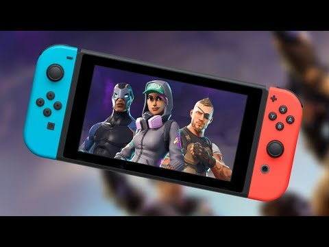 *FIRST* FORTNITE GAME ON NINTENDO SWITCH