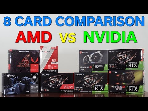 8 GPU Comparison — AMD Vs NVidia — $300 To $500 — Which Should You Buy?