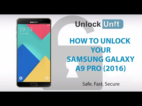 HOW TO UNLOCK Samsung Galaxy A9 Pro (2016)
