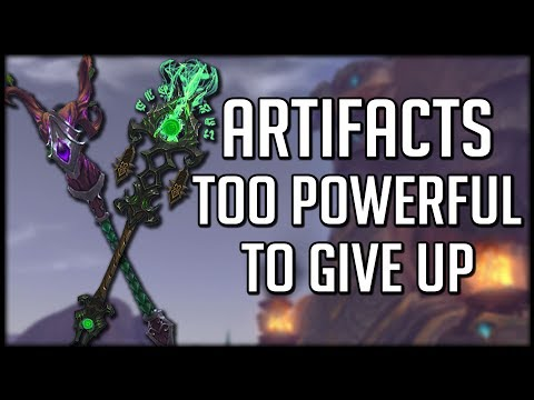 The 5 Artifact Weapons TOO POWERFUL To Give Up! | World of Warcraft Legion thumbnail
