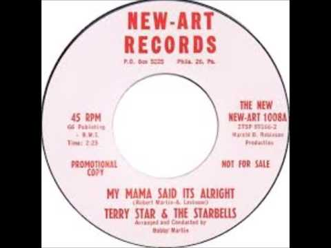 TERRY STAR & THE STARBELLS - MY MAMA SAID IT'S ALRIGHT / PEPPI - NEW-ART 1008 - 1962