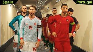 PORTUGAL vs SPAIN | PES 2018 Gameplay PC